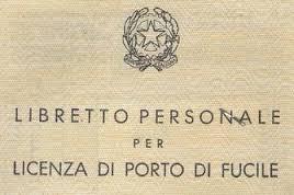 Porto d armi uso caccia club italiano del colombaccio - Porta d armi uso sportivo ...