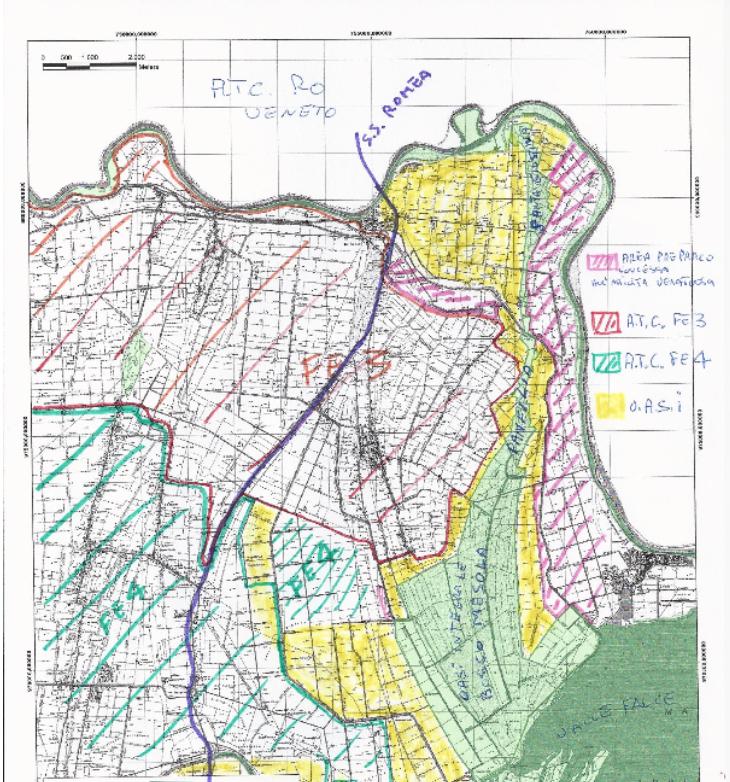 Mappa Bosco della Mesola e dintorni