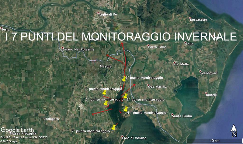Mappa monitoraggio e direzioni uscite